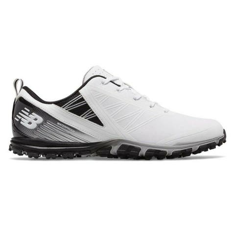 Men's New Balance Minimus SL White/Black Golf Shoes NBG1006WK-W (WIDE)