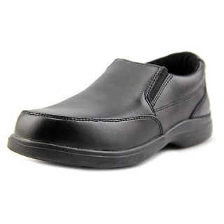 Hush Puppies Shane Youth Round Toe Leather Black Loafer