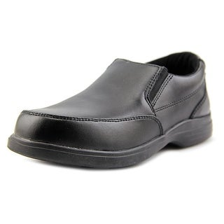 Hush Puppies Shane Youth W Round Toe Leather Black Loafer