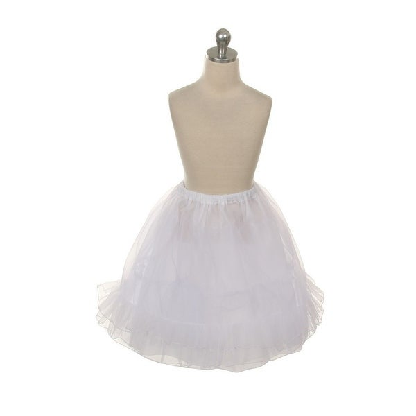 Kids Dream White Triple Layer Petticoat Slip Girls 2T