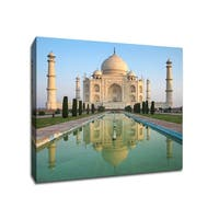 Taj Mahal - India  - Architecture - 24x24 Gallery Wrapped Canvas Wall Art