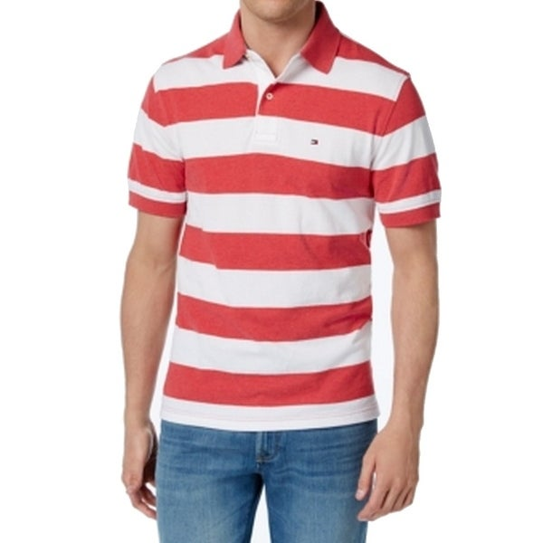 e36f8a95 Shop Tommy Hilfiger NEW Red White Mens Size 2XL Stripe Polo Rugby Shirt -  Free Shipping On Orders Over $45 - Overstock - 21464097