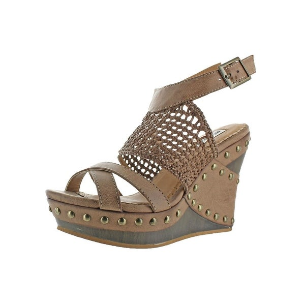 Not Rated Womens Coralie Wedge Sandals Studded Strappy