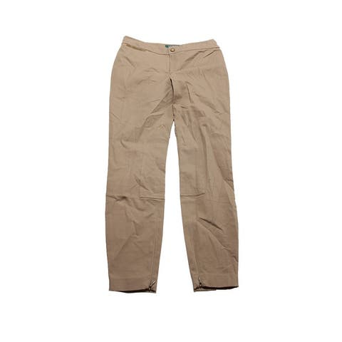 Lauren Ralph Lauren Petite Khaki Stretch Pants 2P