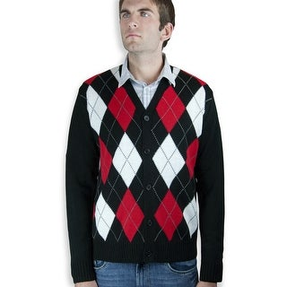 Button down Mens argyle cardigan sweater(SW-299)