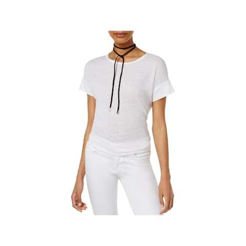 Rachel Rachel Roy Womens Casual Top Linen Asymmetric