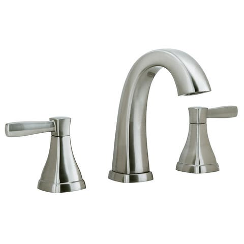 Miseno ML641-LQ Elysa-V Widespread Bathroom Faucet with Solid Brass Push-Pop Drain Assembly - Brushed Nickel