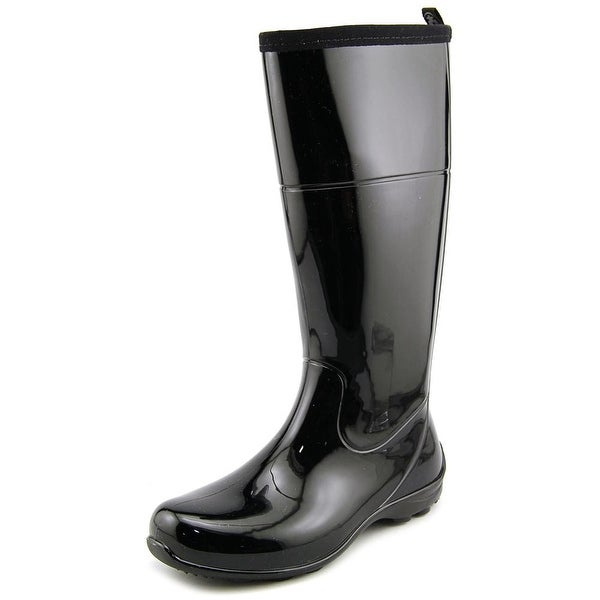 Kamik Naomi Women Round Toe Synthetic Black Rain Boot