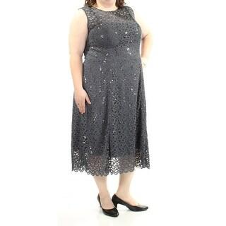 Womens Navy Sleeveless Midi Sheath Formal Dress Size: 22