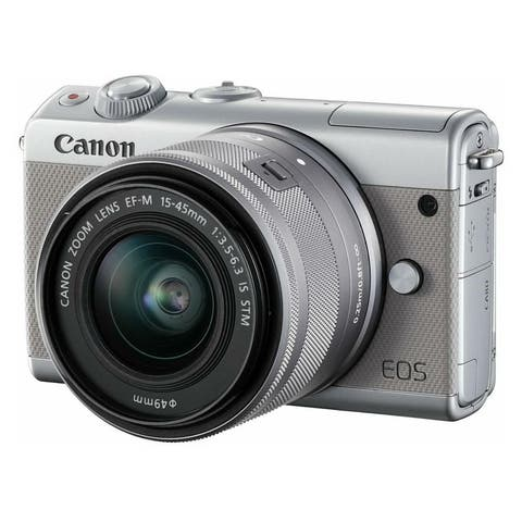 Canon EOS M100 Mirrorless Digital Camera with 15-45mm Lens - Grey