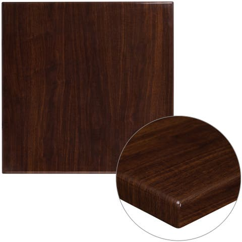 "30SQ Hi-Gloss Resin Table Top - 30""W x 30""D x 2""H"