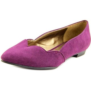 Ann Marino by Bettye Muller Strait Pointed Toe Synthetic Flats