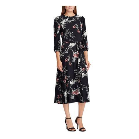 RALPH LAUREN Black Long Sleeve Maxi Dress 0