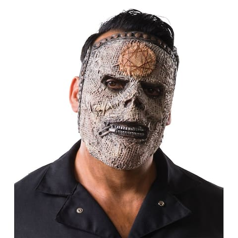 Beige and Ivory Slipknot Bass Men Halloween Mask Costume Accessory - One Size