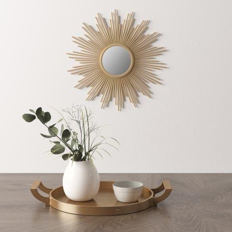 Madison Park Fiore Gold Sunburst Mirror - Small