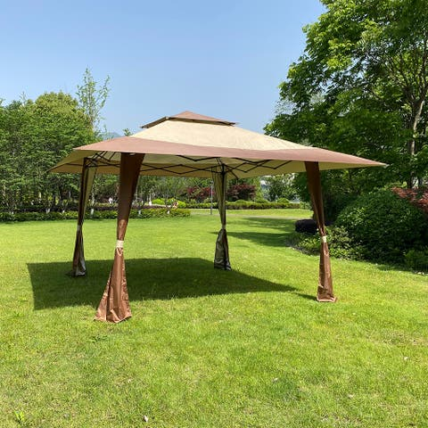 Outdoor 13x13 Ft Canopy,Patio Pop-up Folding Gazebo Canopy Tent