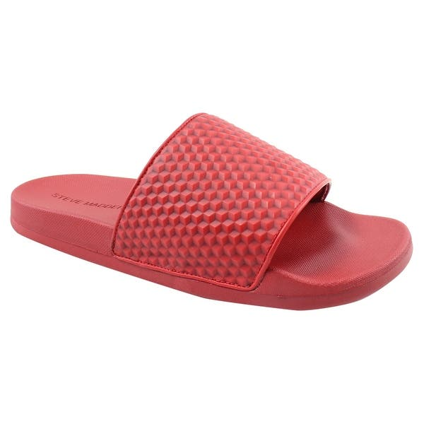 760dcf616 Steve Madden Mens Riptide Red Slides Size 9. Breadcrumbs. Clothing & Shoes/ Shoes/Men's ...