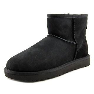 Ugg Australia Classic Mini II Women Round Toe Suede Black Winter Boot