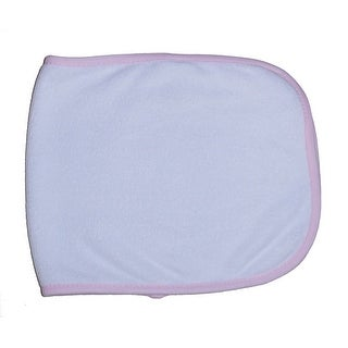 Terry Burpcloth with Pink Trim - Size - One Size - Girl