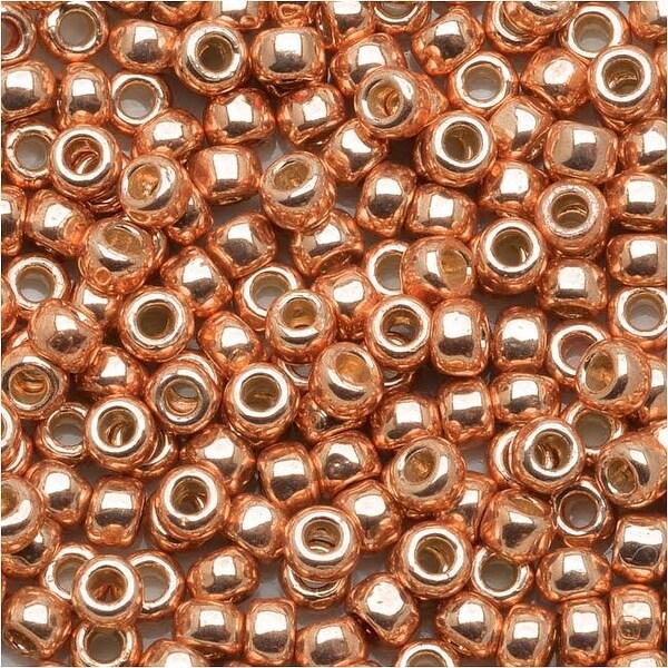 Toho Round Seed Beads 8/0 PF551 - Permanent Finish Galvanized Rose Gold (8g)