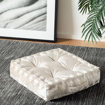 SAFAVIEH Peony Square Tufted Velvet Floor Pillow