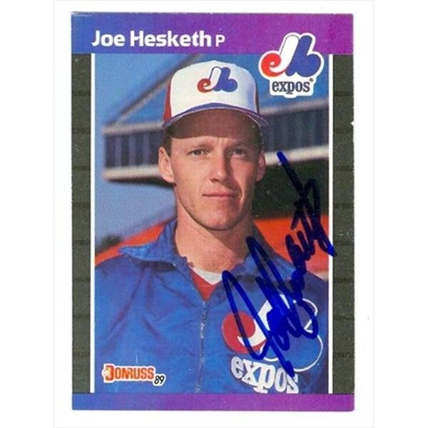 adec33d153 Shop Joe Hesketh Autographed Baseball Card Montreal Expos 1989 Donruss -  Free Shipping On Orders Over $45 - - 23938462