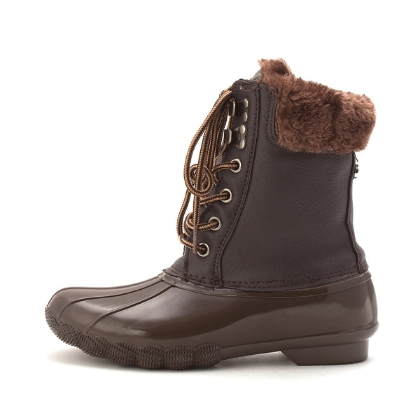Steve Madden Womens T STORM Closed Toe Ankle Cold Weather Boots