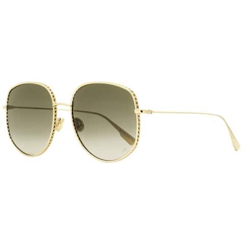 Dior DiorByDior 2 00086 Womens Gold 58 mm Sunglasses
