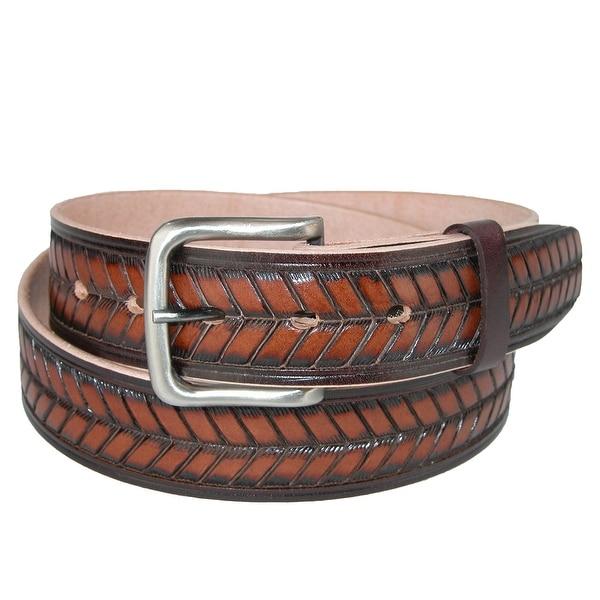 CTM® Men's Leather Arrow Design Belt