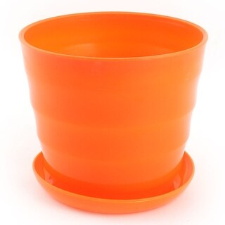 Home Plastic Cylinder Plant Aloes Cactus Flower Planting Pot Flowerpot Orange