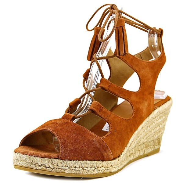 Kanna KV6333 Women Open Toe Leather Tan Wedge Sandal
