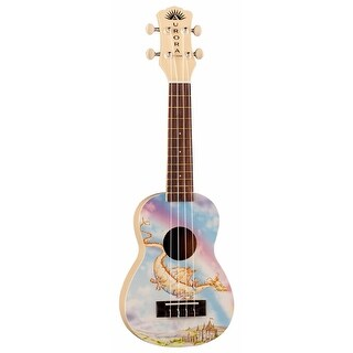 Luna Aurora Soprano Ukulele (Sun Shower Yellow, Dragon)