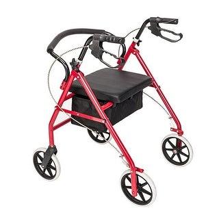 """Steel & Nylon Walker with Wheels Black & Red - 8'9"""" x 12'"""