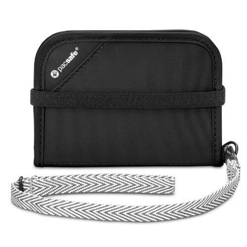 Pacsafe 10551100-Black RFIDsafe Anti-Theft V50 Blocking Compact Wallet