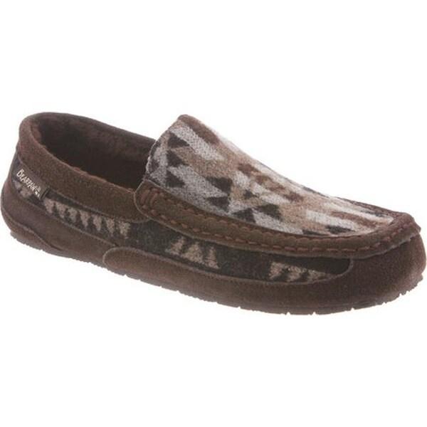 4671e1d6144a Shop Bearpaw Men s Peeta Solids Moccasin Chocolate Aztec Wool - Free ...