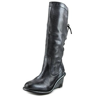 Bed Stu Empress   Round Toe Leather  Knee High Boot