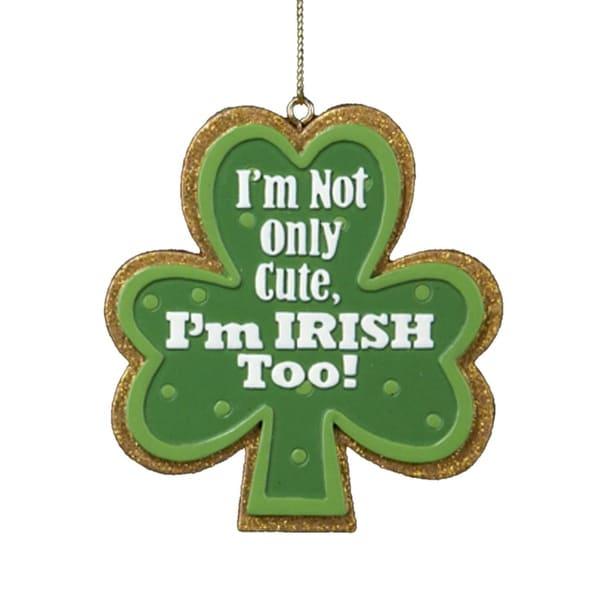 Luck of the Irish Shamrock St. Patricks Day Christmas Ornament - green