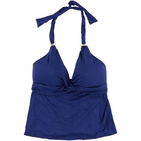 Ralph Lauren Womens Twist Tankini Swim Top