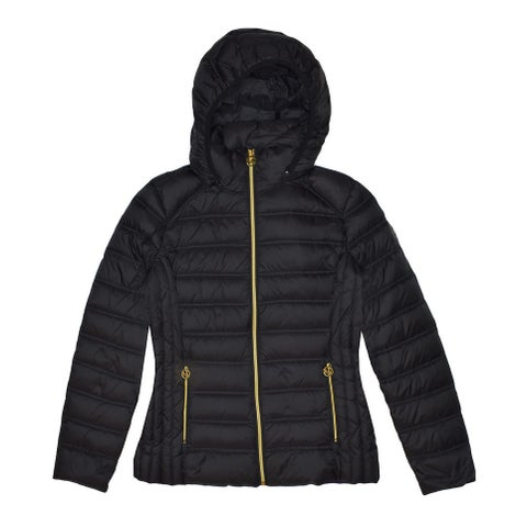 Michael Michael Kors Black Hooded Down Packable
