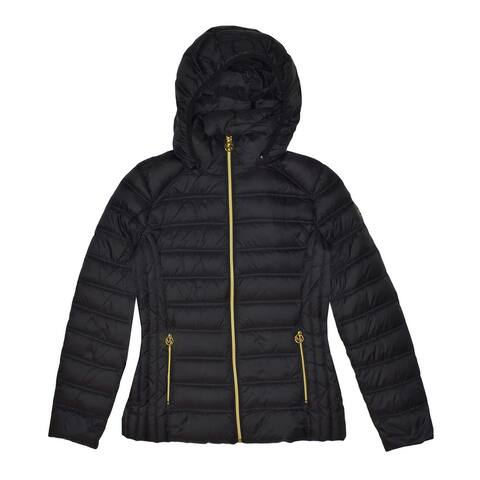 Michael Michael Kors Black Hooded Down Packable