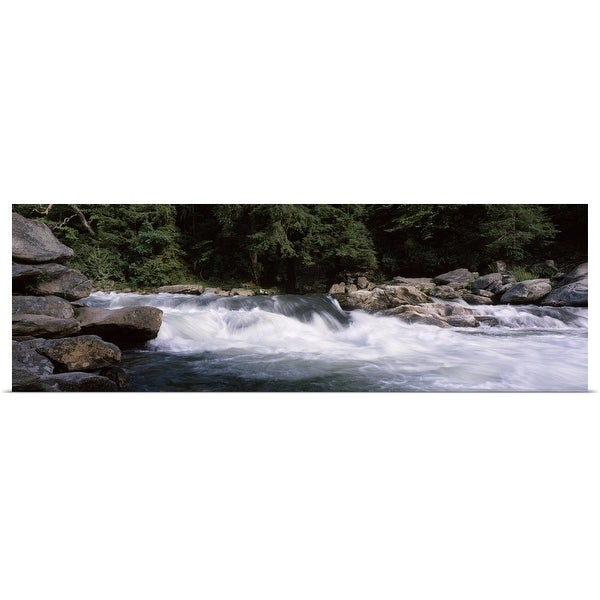 """""""Water flowing through rocks, Bull Sluice, Chattooga River, South Carolina and Georgia"""" Poster Print"""