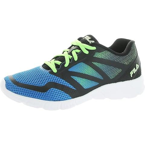 Fila Boys Ravenue 5 Running Shoes Gym Fitness - Blue/Black/Green - 6.5 Medium (D) Big Kid