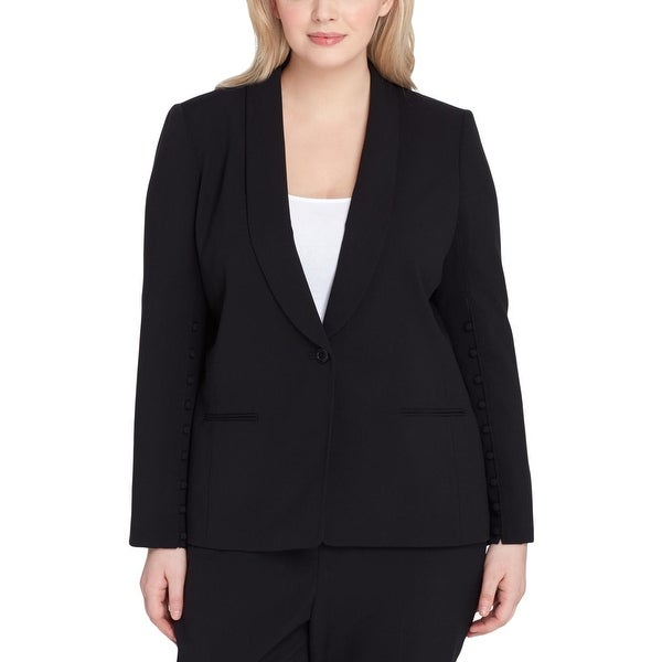 e49bf745650 Shop Tahari ASL Womens Plus One-Button Blazer Button Down Sleeve  Professional - Free Shipping Today - Overstock.com - 26965704