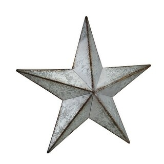 Distressed Galvanized Finish Rustic Metal Star Wall Hanging 10 Inch