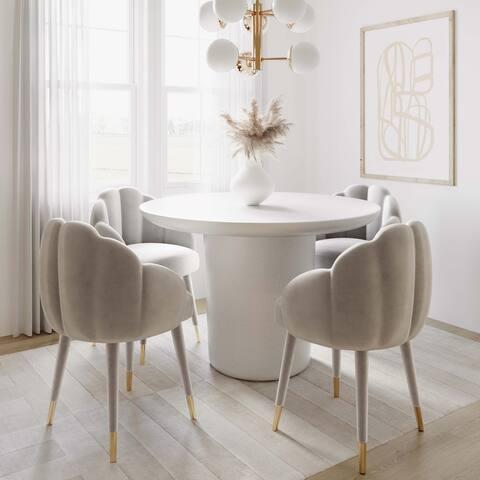 Gardenia Velvet Dining Chair