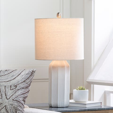 """Enric Contemporary Ceramic 24-inch Table Lamp - 24""""H x 12""""W x 12""""D"""