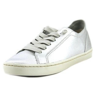 Dolce Vita Xavi Women Round Toe Leather Silver Sneakers