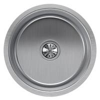 "Elkay ELUH16FB Mystic Lustertone Stainless Steel 16"" Single Basin Undermount Bar Sink with 8"" Depth and 3-1/2"" Drain Opening"