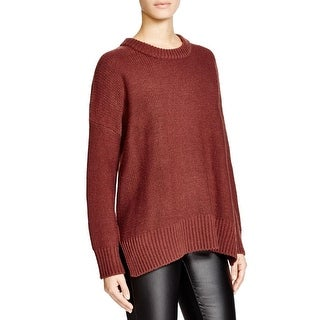Knot Sisters Womens Pullover Sweater Ribbed Trim Long Sleeves