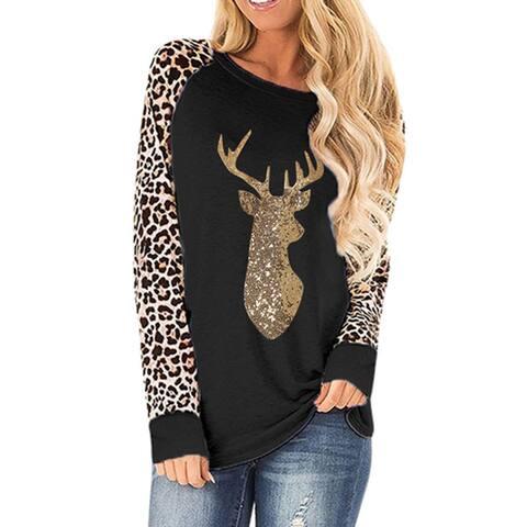 Leo Rosi Women's Leopard Reindeer Top